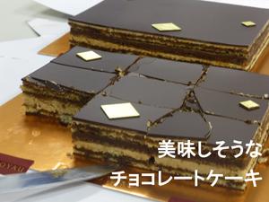 美味しそうなチョコレートケーキ